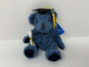 Russ Graduation Halls of Ivy Super Scholar Blue Bear w/ Diploma & Cap NOS #13