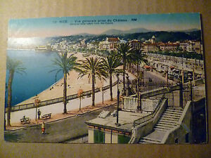 Postcard- NICE.- GENERAL VIEW TAKEN FROM THE CASTLE, France, no.9