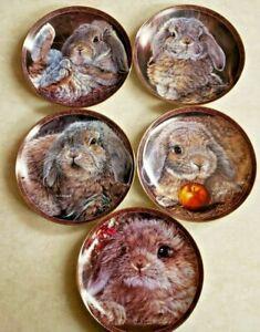 "Vivi Crandall ""Bunny Tales"" First 5 Collector Plates B4-B10-625.1"