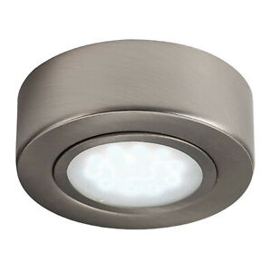 ROUND UNDER CABINET LED MAINS KITCHEN CUPBOARD LIGHT KIT COOL WHITE WARM WHITE