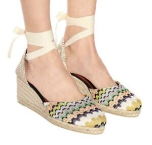 Missoni Castaner Carina Wedge Heel Espadrilles Shoes Size 37 Barely Worn