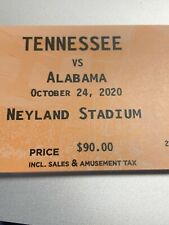 2 Tennessee vs Alabama Football Tickets PP Row 4  Real TICKETS NOT DOWN LOAD