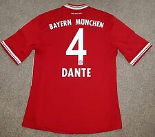 Il BAYERN MONACO 2013/14 HOME FOOTBALL SHIRT MEDIUM Dante MUNCHEN