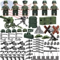 Custom WW2 Military Army Parachute Weapons SET Artillery Minifigures