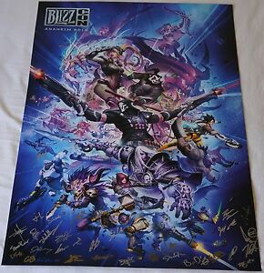 Blizzcon 2014 Exclusive Key Art Signed Poster