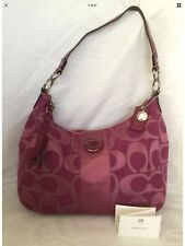 COACH Pink Leather/Fabric Hobo/Shoulder Bag / Handbag