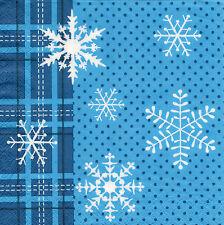 4 Servietten Motivservietten Weihnachten Eisblumen Sterne Schneeflocken (1240)