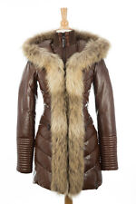 100% AUTHENTIC Rudsak Andrea Leather Coat With Fur Trim Size XS (Older Model)