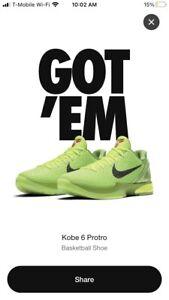 Nike Kobe 6 Proto Green Apple 'Grinch' Size 9.5 ORDER CONFIRMED