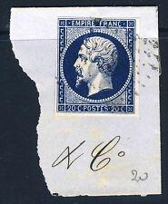 France 1854 2nd empire napoléon iii non perforé die i 20 centimes bleu sg 51 Y&T14A