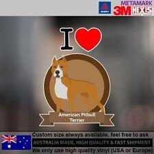 American Pitbull Terrier Sticker Style Custom cute Gift  9.6 cm  x 12.7 cm