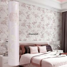 3D Wallpaper Bedroom Roll Modern  Embossed Flower Wall Background 10M DIY Home