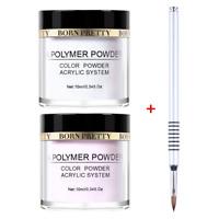 3Pcs 10ml BORN PRETTY Clear Pink Acrylic Powder Extension French Nail Art Brush