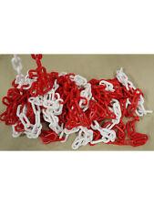 5 meter Absperrkette rot-weiß Kunststoff incl Not glieder PCV UV Beständig