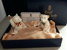 ROYAL CROWN DERBY JAMES AND EMMA MINIATURE TEDDY BEARS