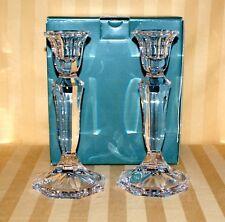 """Lenox Crystal Candlesticks Pair 7.5"""" Avanti Austria Beautiful EUC"""