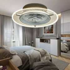 Flush Mount Ceiling Fan Light Kit Remote Control LED Lamp Dimmable with 3 Speed