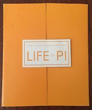 2013 LIFE OF PI,  For Your Emmy Consideration DVD, FYC