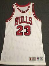 VINTAGE CHICAGO BULLS CHAMPION  NBA 50th ANNIVERSARY JORDAN TEAM ISSUED JERSEY