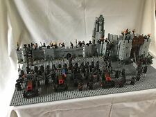 Lego Lord of the  Rings Helms Deep Set 1368 and Three Wall Sets 9471