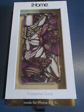 iPhone X / Xs designer case- Purple - Butterflies - Designed In NYC - Unique