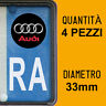 Kit 4 ADESIVI PER TARGA AUDI plate auto moto Europa custom stickers decals