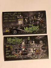The Munsters Premium Black & White Stern Pinball Apron Instruction Cards