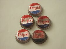 Five Pepsi Cork Bottle Caps