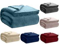 Soft Plush & Fuzzy Throw Velvet Fleece Bed Blanket & Couch - Queen Size