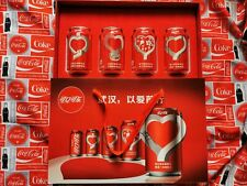 rare China Coca coke Cola wuhan can love loving heart empty 330ml box