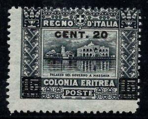 Eritrea 1916 Sass. 46 Nuovo ** 60% 20 c su 15 c