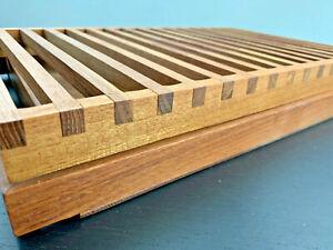 Vintage Danish Modern Bread Tray Selandia Designs Teak Wood Mid Century