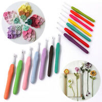 1pc Knitting Crochet Needles Plastic Handle Yarn Crochet Hook Sewing Accessories