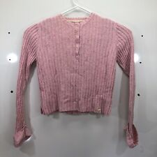 Nautica Women's Pink Cable Knit Sweater Size XL