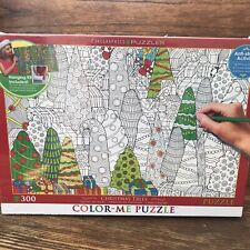 Eurographics NEW Color-Me Christmas Trees Jigsaw Puzzle 300 Pieces Anti-Stress