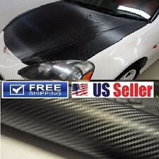 """100% BUBBLE FREE"" 4D GLOSSY Carbon Fiber Vinyl Wrap Film DIY 36""x60"" 3ftx5ft"