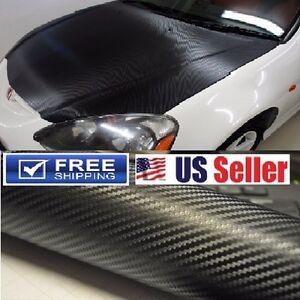 """100% BUBBLE FREE"" 4D GLOSSY Carbon Fiber Vinyl Wrap Film DIY 36""x60"" 3ftx5ft"