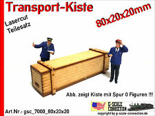 Spur 0 Lasercut 2x Transport Kiste 80x20x20mm aus Holz für z.B. Lenz Brawa MBW