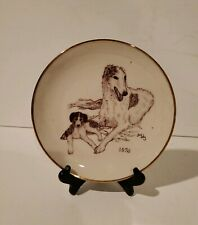 Borzoi Rare Vintage 1976 Club of America Limited Edition Collectible Plate