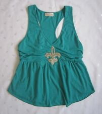 Baby Phat Women's / Girls Sleeveless Empire Waist Rhinestones Tunic -Size Small