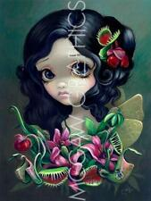 FANTASY ART PRINT Carnivorous Bouquet Fairy Jasmine Becket-Griffith