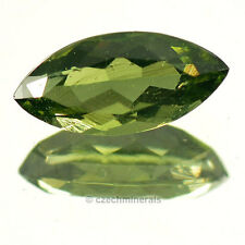 1.84cts marquise normal cut 6x13mm moldavite faceted cutted gem BRUS690