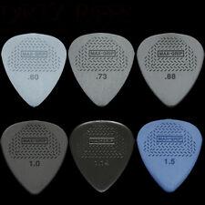 6 Dunlop Max Grip Standard Guitar Picks 1 Of Each Size