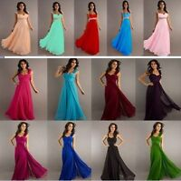New Long Chiffon Formal Prom Party Bridesmaid Evening Dress Stock Size 6-16