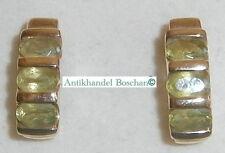 Ohrringe/Stecker 375 Gold mit Citrine