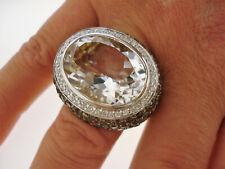 TOP Ring 750 Gold Bergkristall 135 Citrine 40 Brillanten 0,55 ct Oro 18K 20,5 g