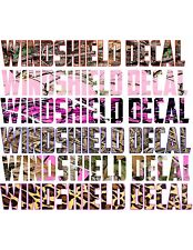 Windsheild Decals/Text Only/Maximum 18 letters/Full Color Print with outlines