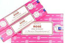 India Best burner Satya Nag Champa Rose dhoop Incense Sticks Yoga Agarbatti 12pk
