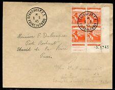 France - Obli. Stand des PTT Foire de Paris sur enveloppe en 1945 - ref JJ 11