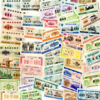 100 PCS Different China Food Coupon Notes, 1973-1991, rice, PR-UNC